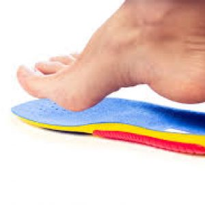 Correct footwear and orthotics